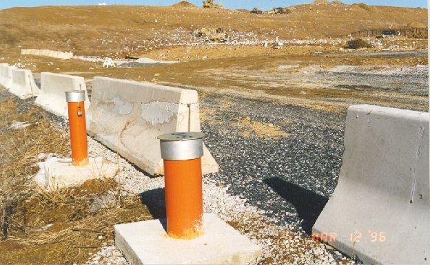 Wells marked in orange have water drawn from and sampled frequently