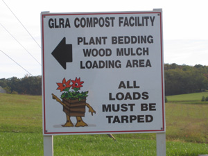 The GLRA compost facility sign